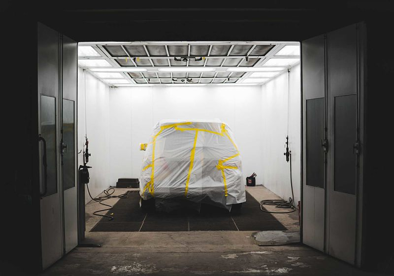cabine para pintura automotiva